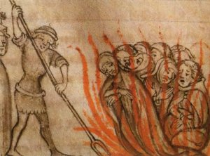 Templars burned at the Stake